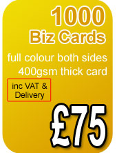 1000 premium business cards 400gsm