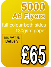 5000 a6 flyers 130gsm