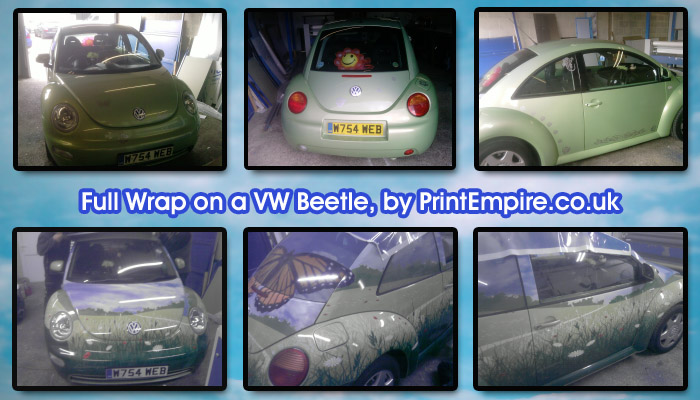 vehicle wrapping, vehicle wrapping vw beetle, car wrap vw beetle, vinyl car wrap